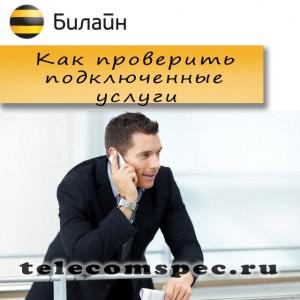 Как проверить подключенные услуги