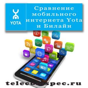 Сравнение мобильного интернета Yota и Билайн